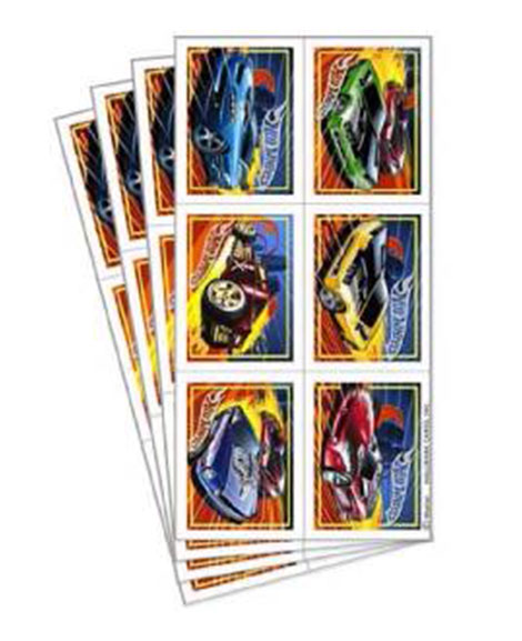 Hot Wheels Speed City Party Favor Stickers