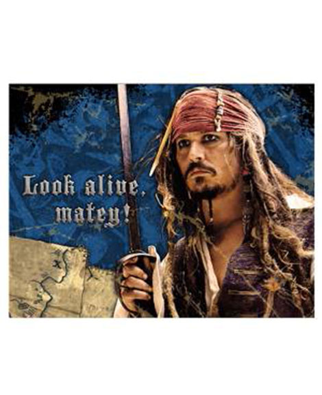 Pirates of the Caribbean 4 Party Invitations