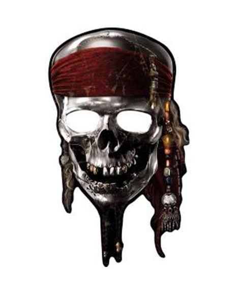 Pirates of the Caribbean 4 Party Favor Masks 8 pc