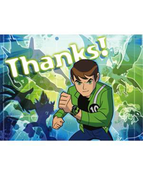 Ben 10 Alien Force Thank You Cards