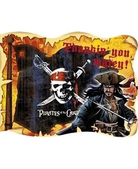 Pirates of the Caribbean 3 Party Thank You Cards