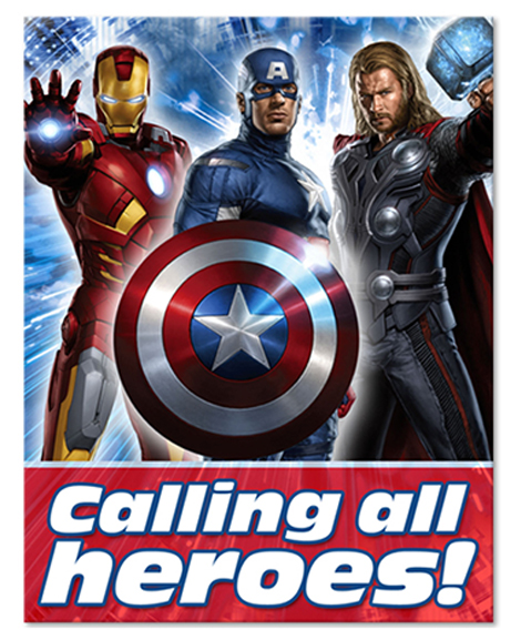 The Avengers Party Invitations