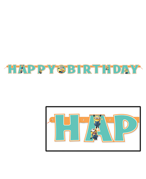 Despicable Me 2 Happy Birthday 6 foot Jointed Banner