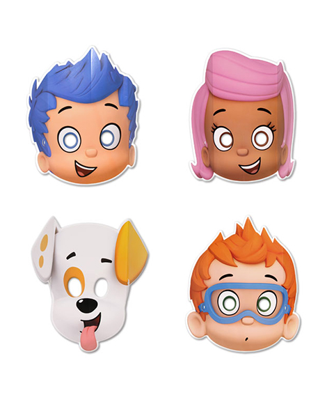 Bubble Guppies Party Favor Masks