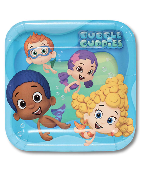 Bubble Guppies Lunch Plates