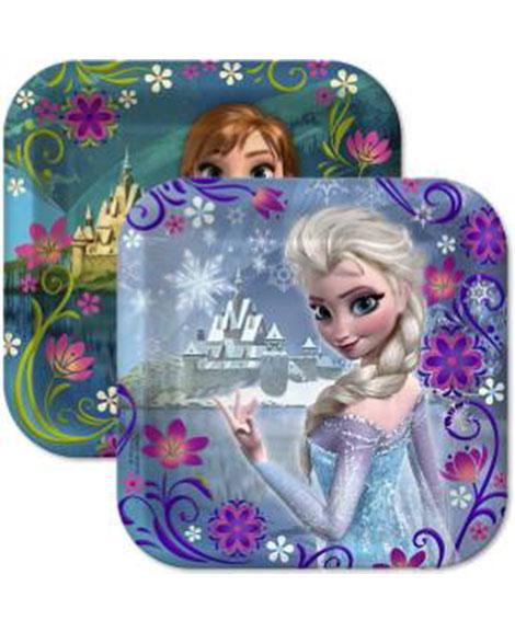 Disney Frozen Square Dessert Plates