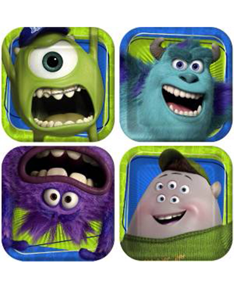Monsters University Dessert Plates 8 Ct