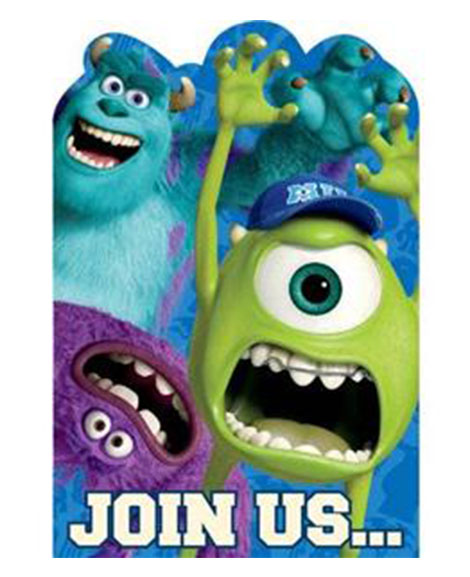 Monsters University Save The Date Party Invitations