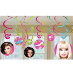 Barbie All Dolled Up Swirl Decorations