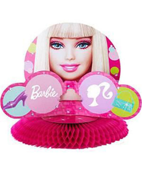 Barbie All Dolled Up Honeycomb Centerpiece
