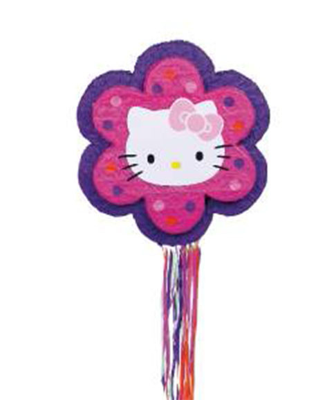 Hello Kitty Flower Drum Pull String Party Piñata