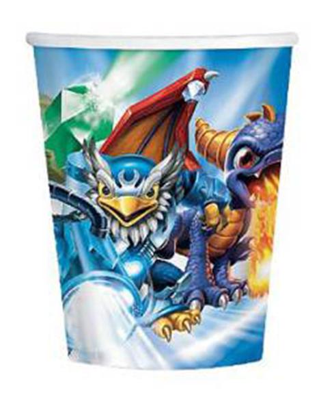 Skylanders 9 oz Paper Cups 8 Ct