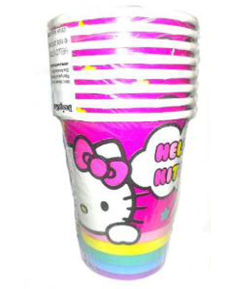 Hello Kitty Birthday 9 oz Paper Cups