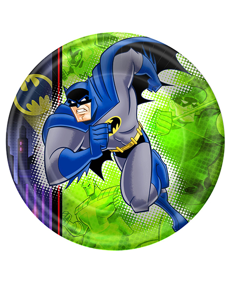 Batman Brave and Bold Lunch Plates