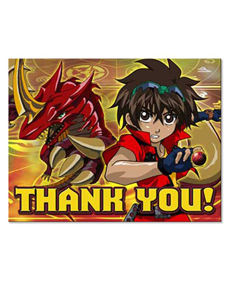 Bakugan Party Thank You Cards