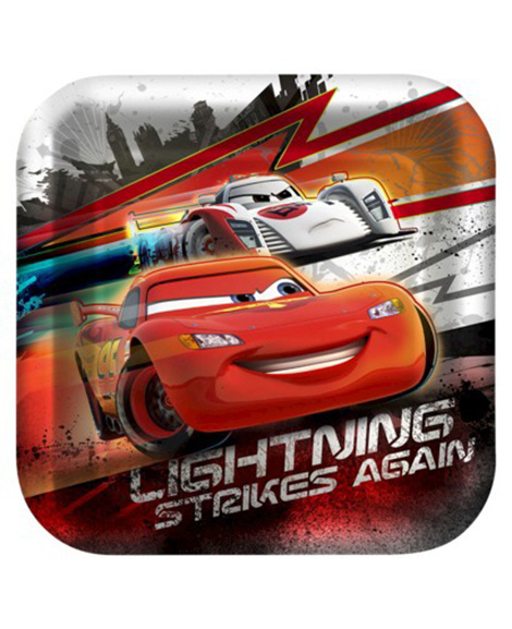 Disney Cars High Velocity Lunch Plates