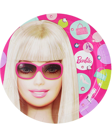 Barbie All Dolled Up Dessert Plates