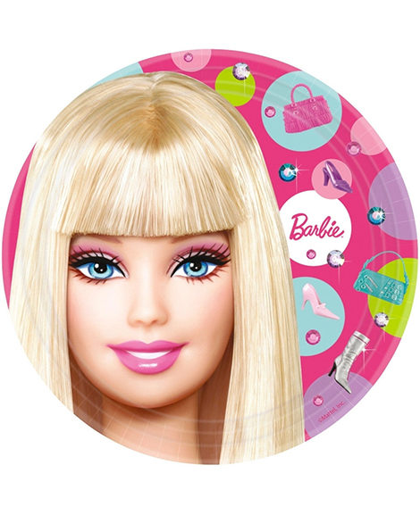 Barbie All Dolled Up Lunch Plates