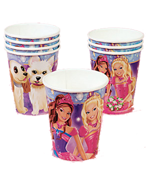 Barbie Diamond Castle 9 oz Paper Cups