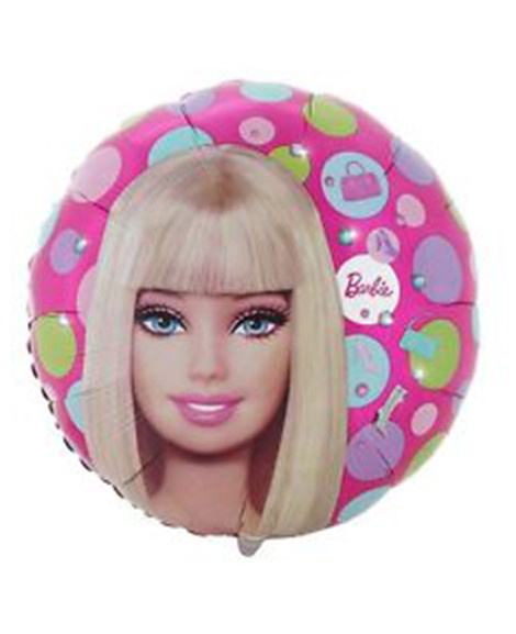 Barbie All Dolled Up 18 Inch Round Foil Mylar Balloon