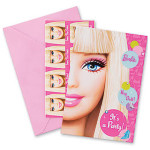Barbie All Dolled Up Save The Date Party Invitations