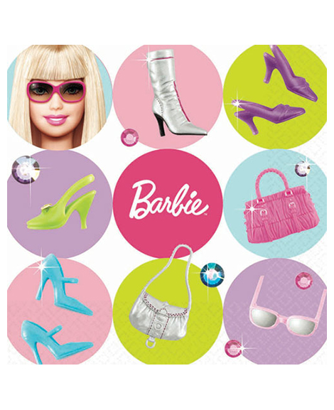 Barbie All Dolled Up Dessert Napkins