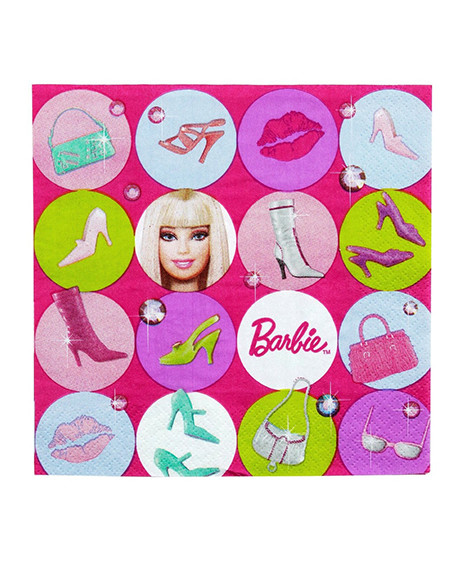 Barbie All Dolled Up Lunch Napkins