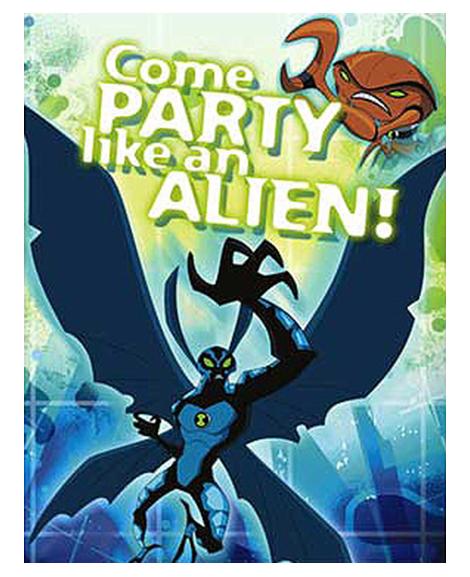 Ben 10 Alien Force Party Invitations