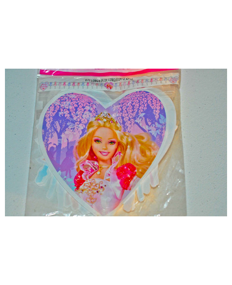 Barbie 12 Dancing Princess Happy Birthday 8 Foot Jointed Plastic Banner