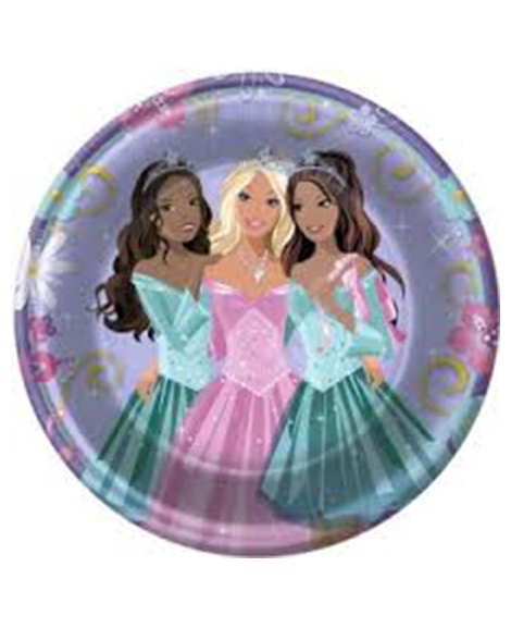 Barbie Perennial Princess Lunch Plates