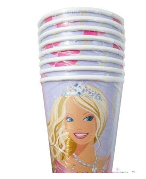 Barbie Perennial Princess 9 oz Paper Cups