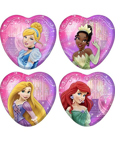 Disney VIP Princess Heart Shaped Dessert Plates