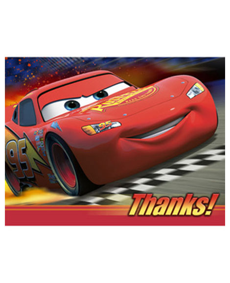 Disney World Of Cars Thank You Cards