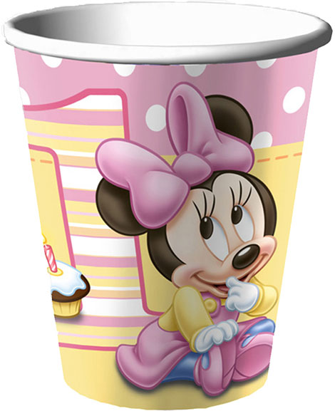Minnie 1st Birthday 9 oz Paper Cups
