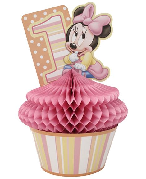 Minnie 1st Birthday Cupcake Centerpiece