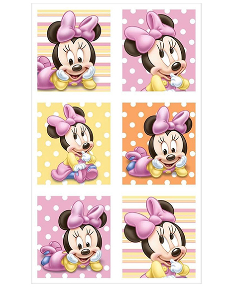 Minnie 1st Birthday Party Favor Stickers