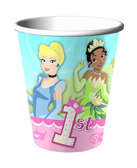 Disney Princess 1st Birthday 9 oz Paper Cups