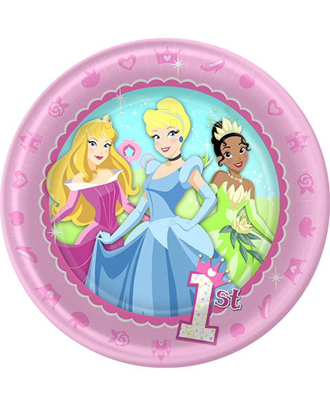 Disney Princess 1st Birthday Dessert Plates