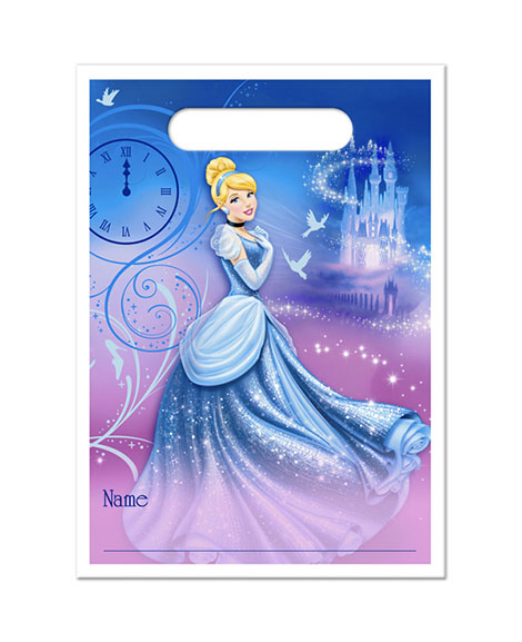 Cinderella Sparkle Party Favor Treat Bags