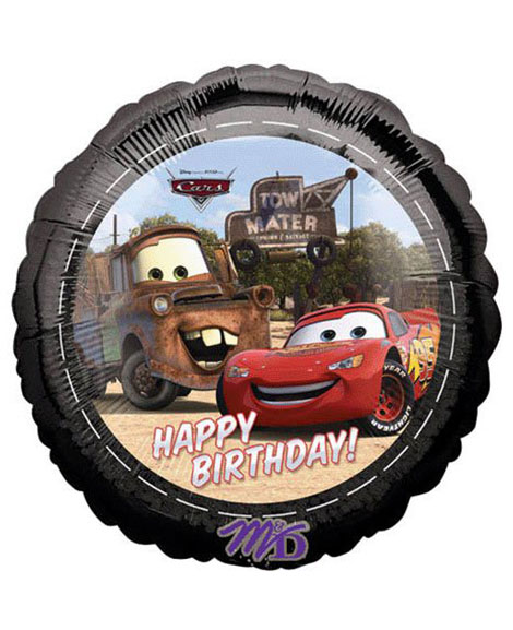 Disney Cars Happy Birthday 18 Inch Round Foil Mylar Balloon