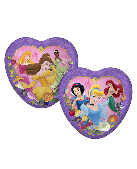 Disney Princess Dreams Heart Lunch Plates