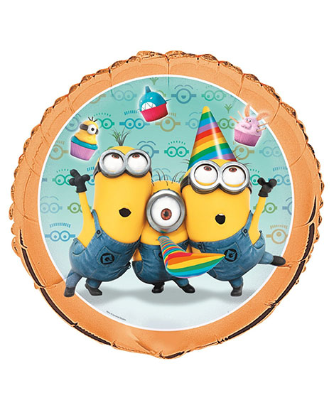 Despicable Me 2 Round Foil 18 Inch Mylar Balloon