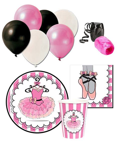 Ballerina Party Package with Balloons for 8 Guests