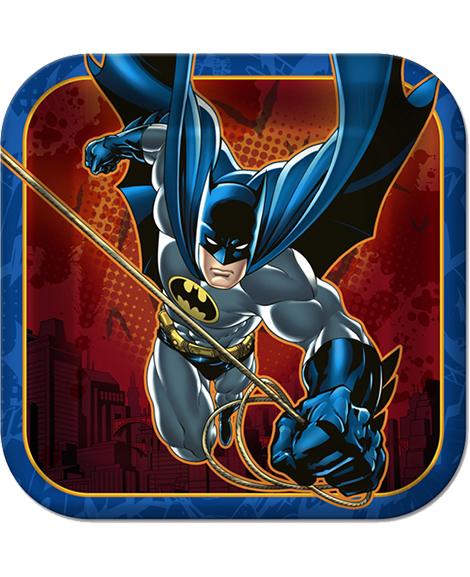 Batman Heroes and Villains Dessert Plates