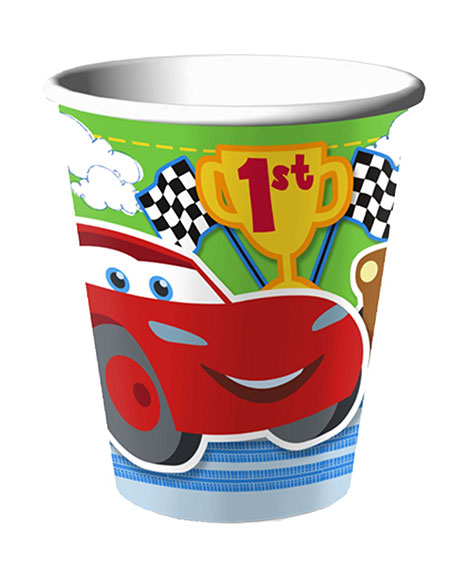 Disney Cars 1st Birthday 9 oz Paper Cups