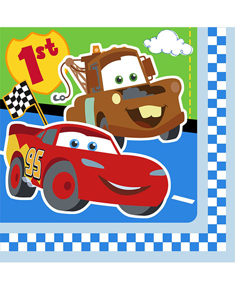 Disney Cars 1st Birthday Lunch Napkins