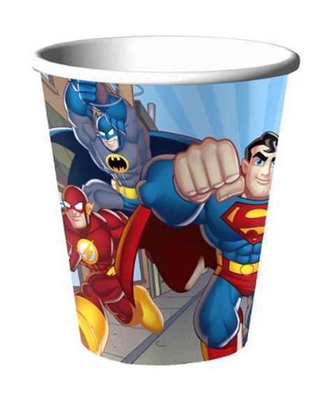 DC Super Friends 9 oz Paper Cups