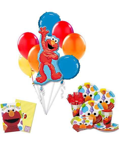 Elmo Party Complete Party Kit for 8 Guests with Balloons