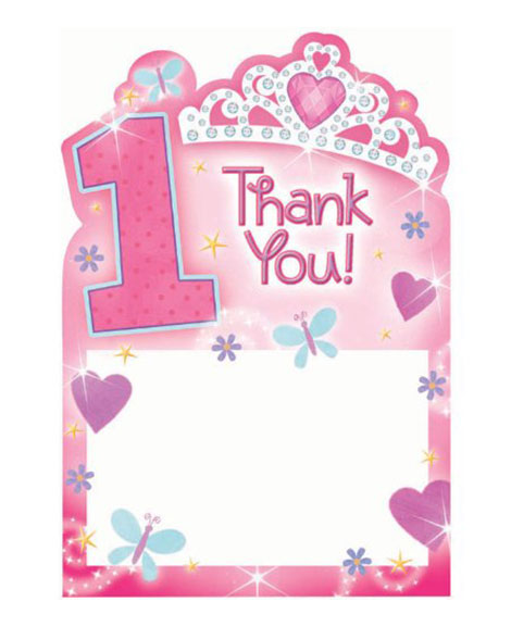 1st birthday princess thank you cards at party quackers 1st birthday princess thank you cards bookmarktalkfo Image collections