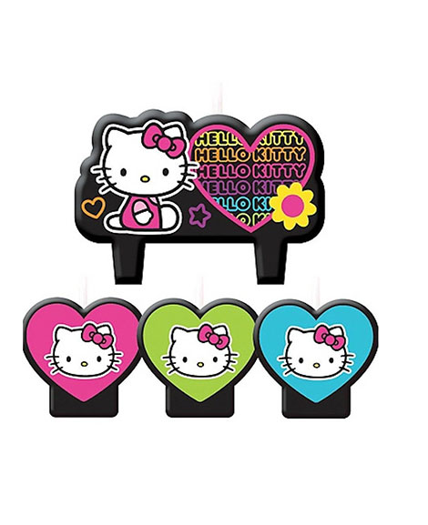 Hello Kitty Tween Cake Topper 4 piece Candle Set